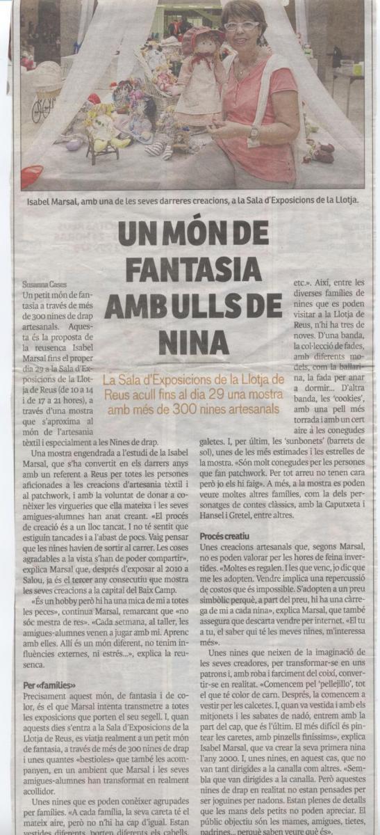 Reportatge Exposició La Llotja de Reus. Reus Directe (22/09/2013)