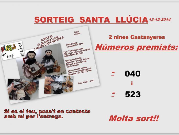 Sorteo Santa Llúcia