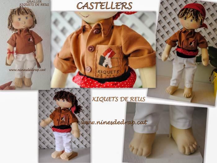 Nines de Drap. Castellers