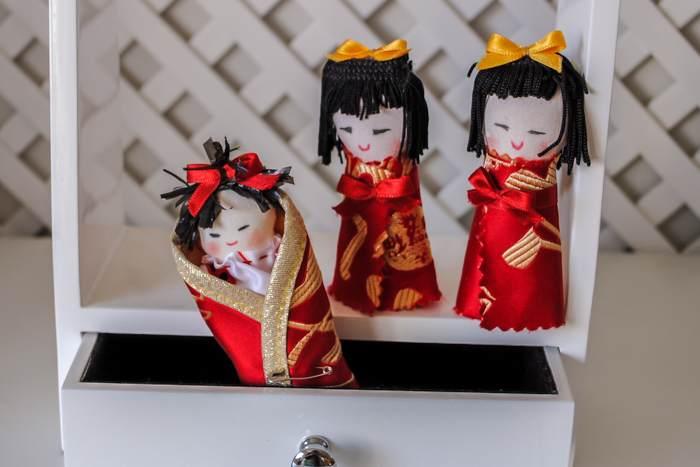 Xinetes mini- Kokeshi